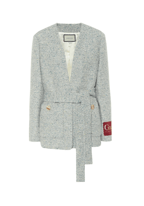 Tweed cotton-blend jacket