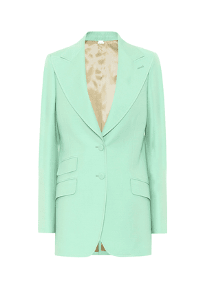 Silk and wool cady blazer