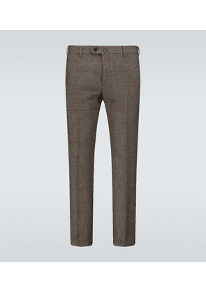 Checked cashmere pants