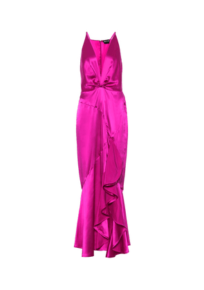 Exclusive to Mytheresa – Silk-satin gown