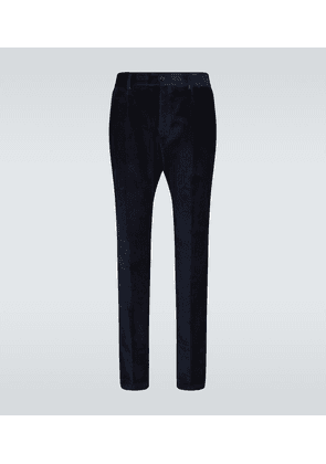 Straight-fit corduroy pants