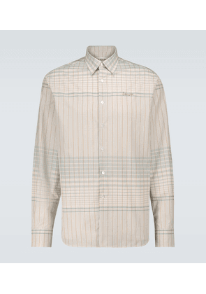 Straight-fit checked shirt