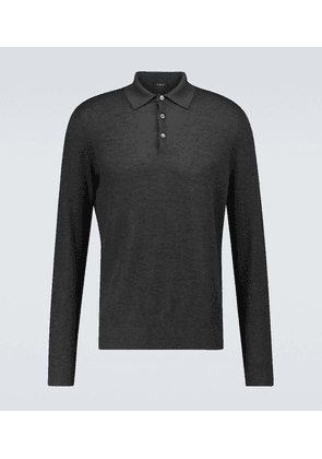 Cashmere and silk polo shirt