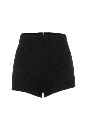 High-rise cashmere shorts