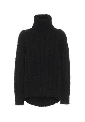 Cable-knit wool and cashmere sweater