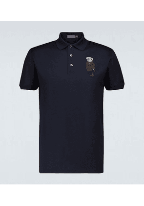Bear short-sleeved polo shirt