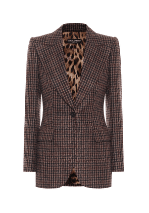 Tweed wool and alpaca-blend blazer