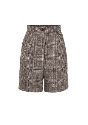 Checked wool-blend Bermuda shorts