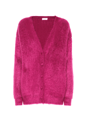 Wool and mohair-blend cardigan