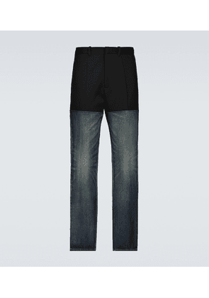 Contrast paneled jeans