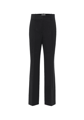 High-rise straight wool-blend pants