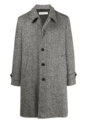 Department 5 textured single-breasted coat - Black