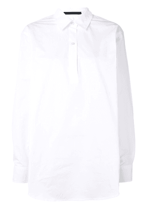 Sofie D'hoore long sleeve polo-style shirt - White