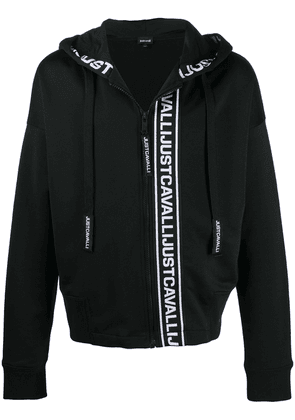 Just Cavalli logo-print zip-up hoodie - Black