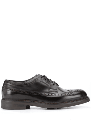 Doucal's lace-up leather brogues - Brown
