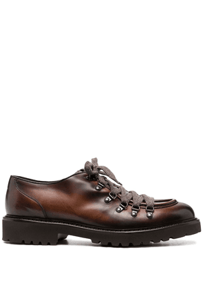 Doucal's lace-up leather shoes - Brown
