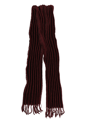 Homme Plissé Issey Miyake pleated wool scarf - Red