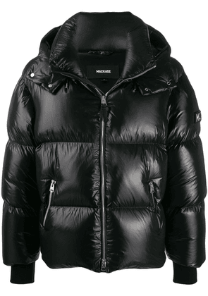 Mackage logo patch feather down jacket - Black