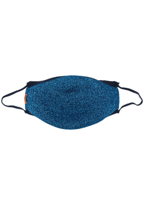 Missoni knitted lurex face mask - Blue