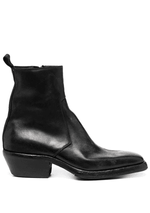 Premiata square toe block heel boots - Black