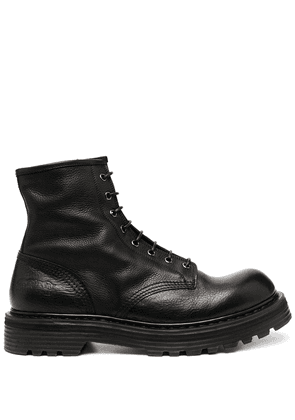 Premiata lace-up combat boots - Black