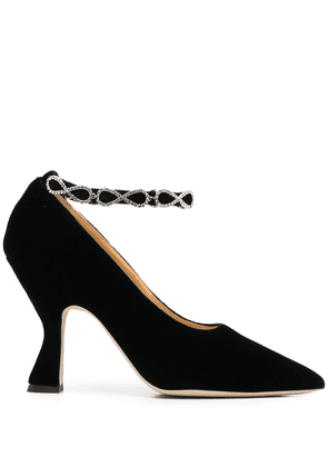 Giannico Mia embellished-strap pumps - Black