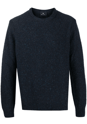 PS Paul Smith flecked crew-neck jumper - Blue