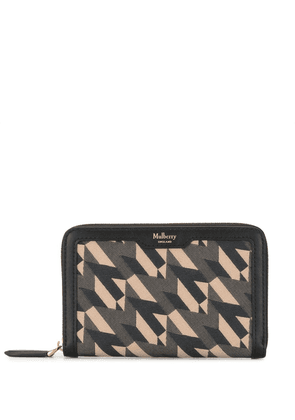 Mulberry geometric-print leather wallet - Multicolour