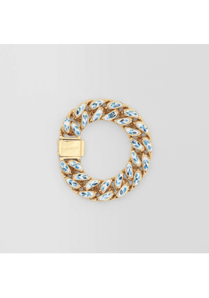 Burberry Enamel Detail Gold-plated Chain-link Bracelet, Yellow