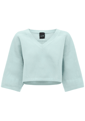 Ivy Park Cropped Knit Jersey Sweatshirt