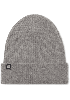 HERSCHEL SUPPLY CO - Cardiff Ribbed Cashmere and Wool-Blend Beanie - Men - Gray