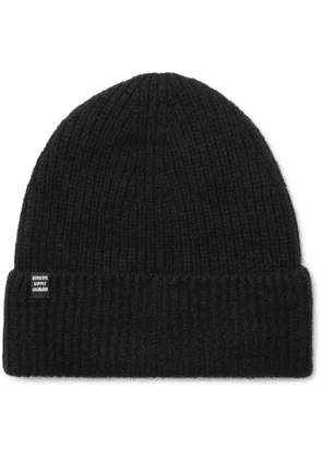 HERSCHEL SUPPLY CO - Cardiff Ribbed Cashmere and Wool-Blend Beanie - Men - Black