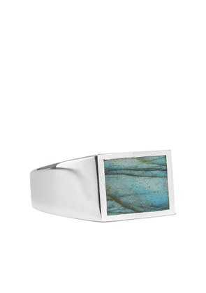 M.Cohen - Sterling Silver and Turquoise Signet Ring - Men - Silver