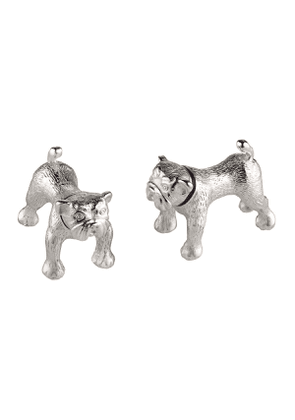 Sterling Silver Bulldog Cufflinks