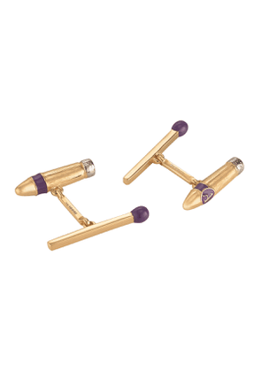 Gold Cigar and Match Cufflinks