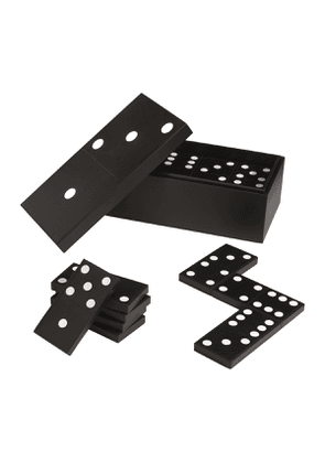 Black and White Calf Hanover Carpet Dominoes