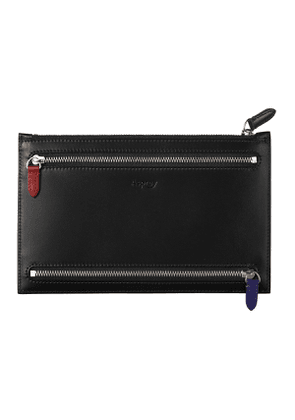 Black Saddle Hide Leather Hanover Currency Pouch