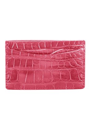 Magenta Crocodile Bond St Card Slip Case