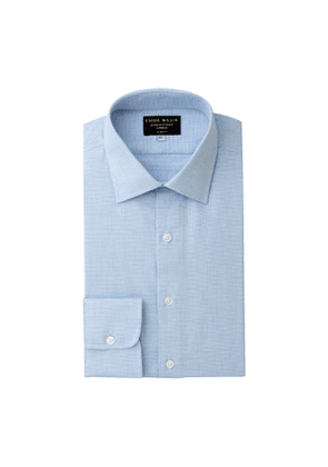 Sky Houndstooth Brushed Cotton shirt