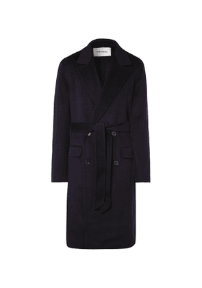 Nanushka - Aiden Double-Breasted Wool and Silk-Blend Coat - Men - Blue