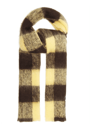 Our Legacy - Blanket Check Scarf - Mens - Yellow