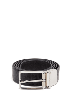 Dunhill - Reversible Grained-leather Belt - Mens - Black Brown
