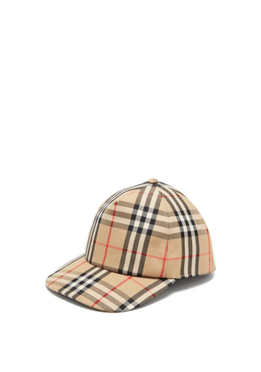 Burberry - Vintage Check Logo-appliqué Baseball Cap - Mens - Beige