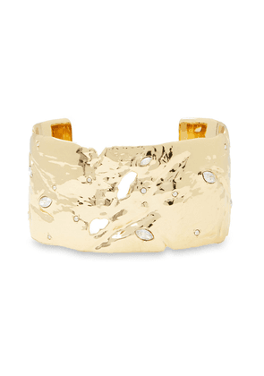 Alexis Bittar 10-karat Gold-plated Crystal Cuff Woman Gold Size --