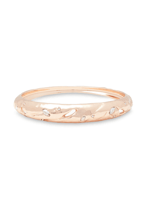 Alexis Bittar Rose Gold-tone Crystal Bangle Woman Rose Gold Size --