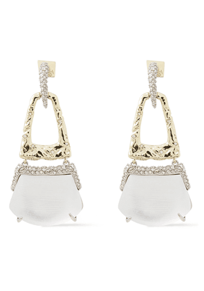 Alexis Bittar 10-karat Gold-plated, Crystal And Lucite Earrings Woman Silver Size --