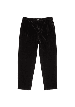 Saint Laurent Black Striped Velvet Trousers