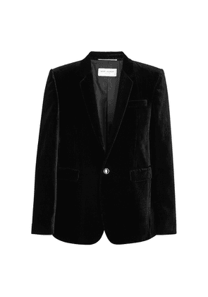 Saint Laurent Black Striped Velvet Blazer