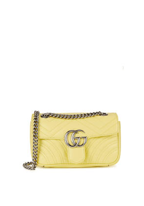 Gucci GG Marmont Mini Yellow Leather Shoulder Bag