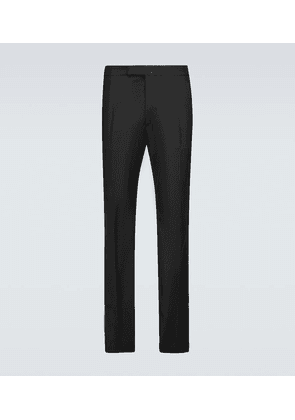 Slim-fit pants with ankle zippers